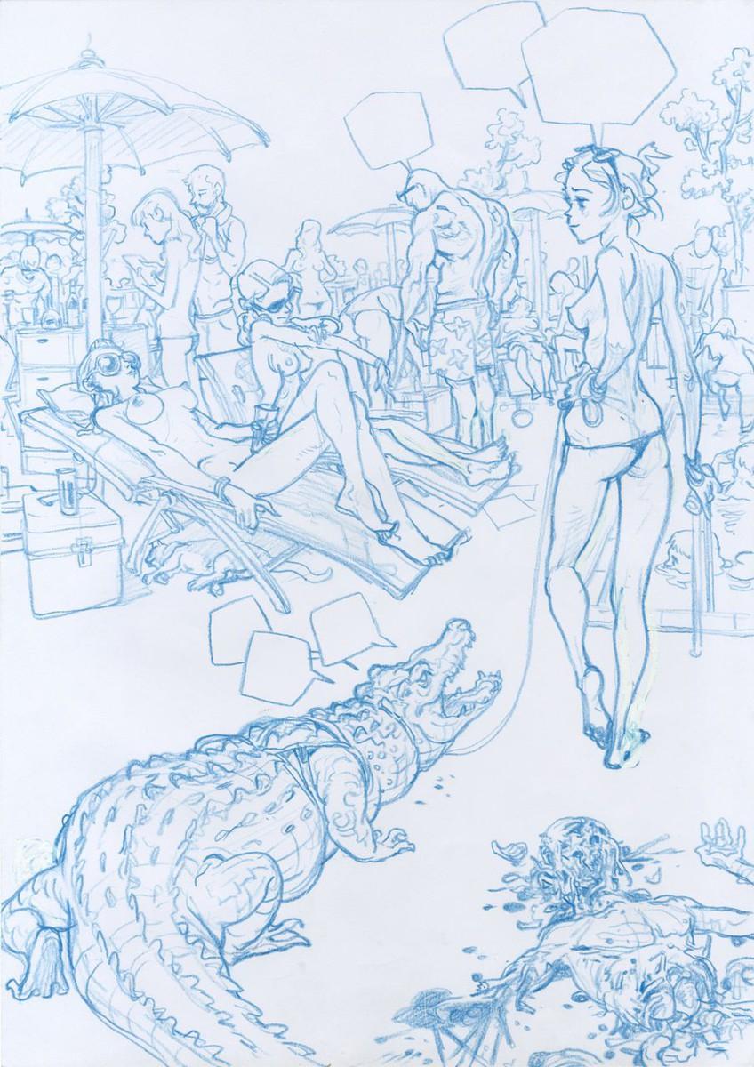 """Kim > Illustration n°06 """"crocodile"""""""
