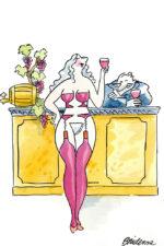 Bridenne > Femme bouteille