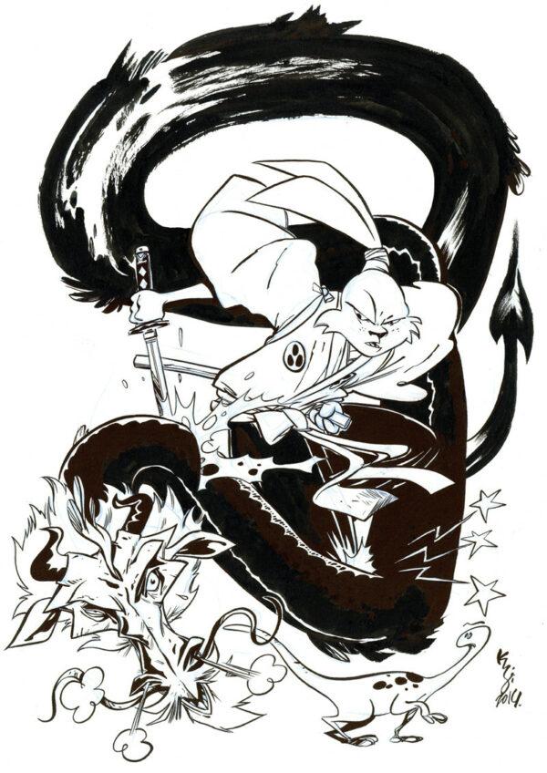 Kalonji > Illustration 3 - Hommage Usagi Yojimbo
