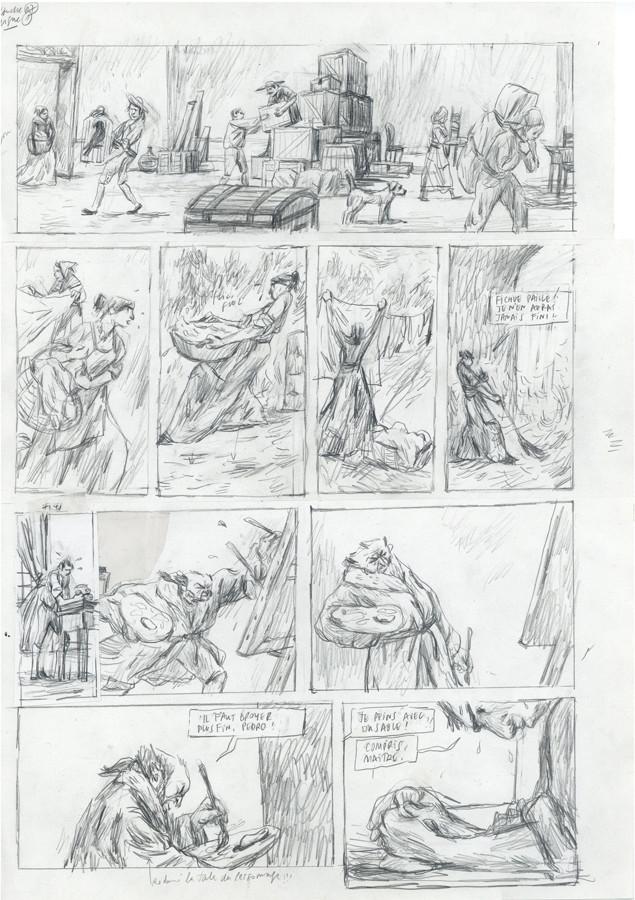 Bozonnet > Goya, crayonné, pl. 7